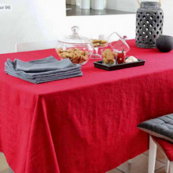 Nappe Lin rouge