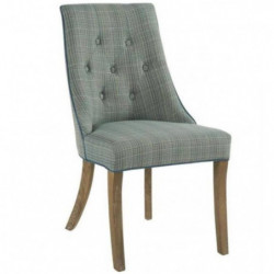 Chaise Léopold turquoise
