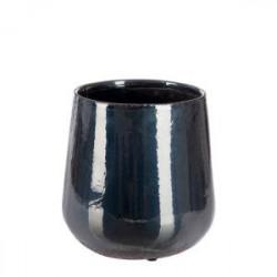 Cache-pot irisé noir