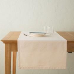 Chemin de table lin gris zinc