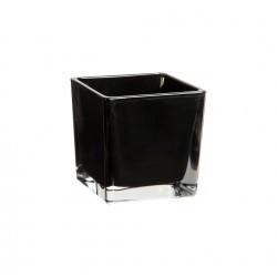 Vase cube noir