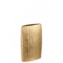 Vase côtelé or